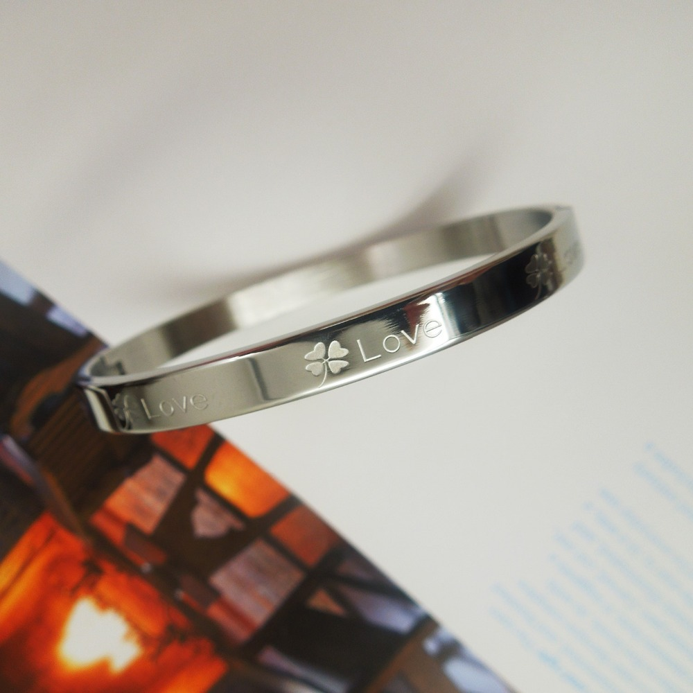 Top Quality heary love zircon brand Fashion Jewelry Cuff Carter Bracelets Bangles 316L Stainless Steel Bracelets For Women