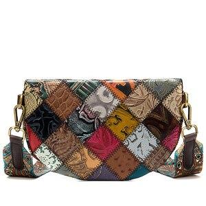 Image 2 - WESTAL sacchetti di spalla delle donne del messaggero del cuoio genuino borse per le donne shell mini crossbody bag patchwork piccolo borse desinger 088