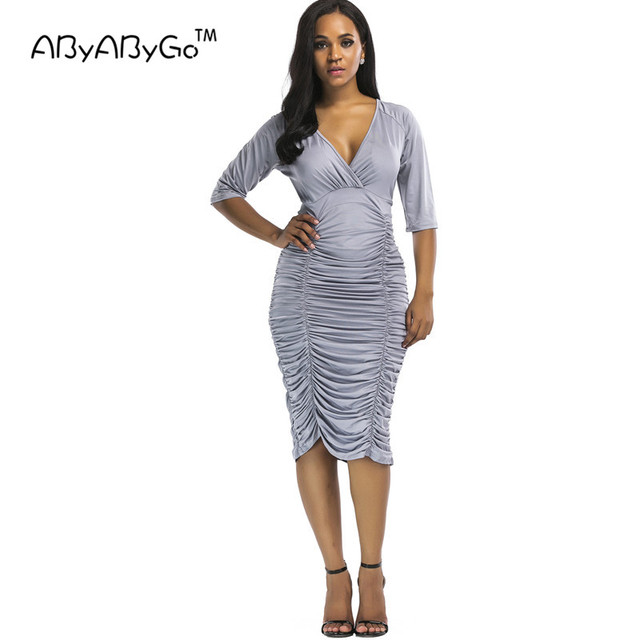 Abyabygo Womens Sexy Club Dress Fashion Summer Style Sexy Deep V