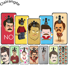 Ron Swanson Soft Phone Cover Case for Huawei Y5 Y 6 7 Prime Y9 Mate 10 20 Pro Lite Nova 3 3i(China)