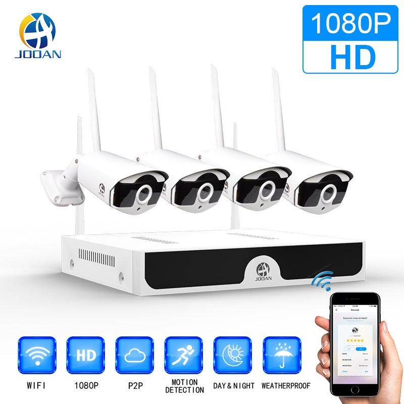 Sistema de CCTV inalámbrico 1080 P 1 TB HDD 2MP 4CH NVR IP IR-CUT de circuito cerrado de televisión al aire libre cámara IP sistema de seguridad de vídeo kit de vigilancia de