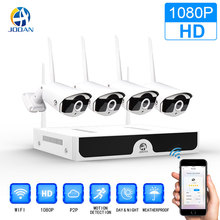 Wireless CCTV System 1080P 1TB HDD 2MP 4CH NVR IP IR-CUT outdoor CCTV Camera IP Security System video Surveillance Kit 1080p wireless nvr security cameras for home security camera system cctv wireless ip camera system video night 4ch cctv kit