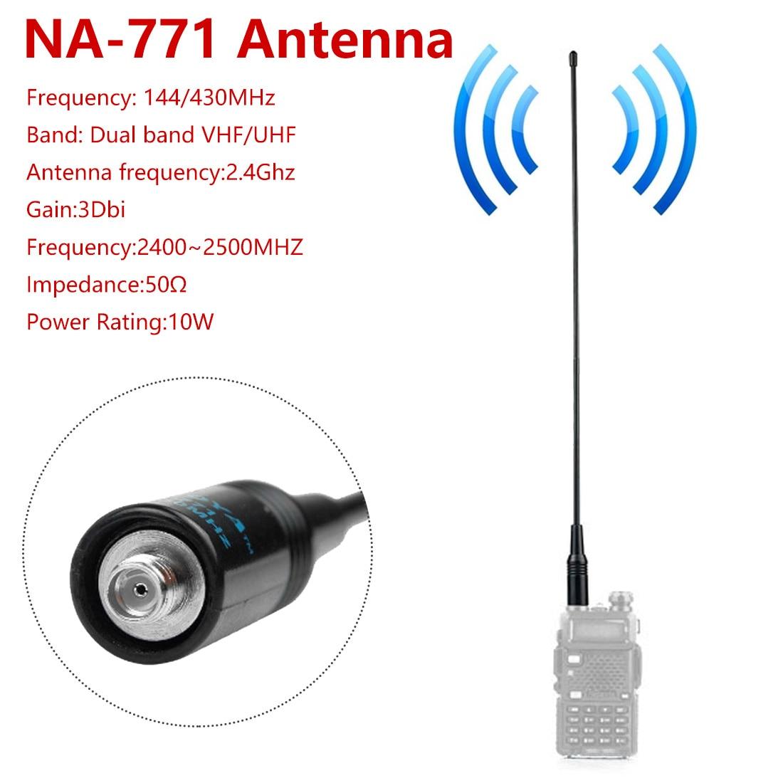Two Way Radio NA-771 NA771 SMA-F SMA Female Dual Wide Band Flexible Antenna VHF/UHF 144/430MHz For Kenwood BAOFENG UV-5R BF-888S