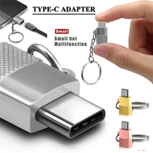Alloy Micro USB to Type-c Adapter with Chain Exquisite for Android Micro USB to Type-C Charge Date Transmission Adapter