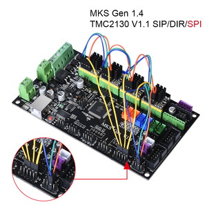 Image 3 - BIQU Bigtreetech MKS Gen V1.4 Control Board kit with 12864 LCD display TMC2130 TMC2208 A4988 DRV8825 stepper motor drive