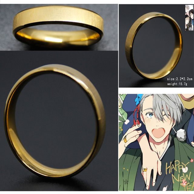 YURI on ICE Cosplay Mental Ring Fashion Ring for Men Designer