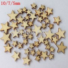 Free Shipping 600pcs Romatic Style Wood Star Chipboard Fashion Wooden Home Decorations DIY Christmas Party Scrapbooking Crafts