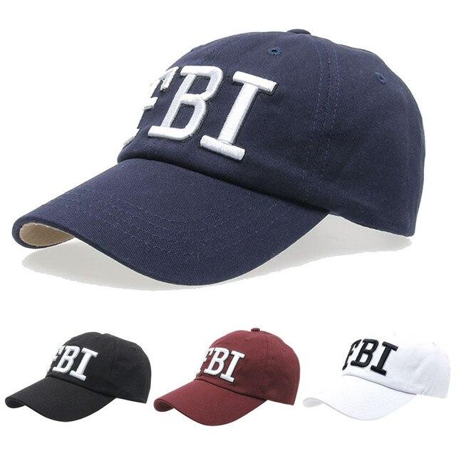 c4b9d4c1f64 Snapback New Summer Baseball Caps Women Men FBI Letters embroidery Denim Baseball  Cap Snapback Hip Hop Flat Hat bone casquette