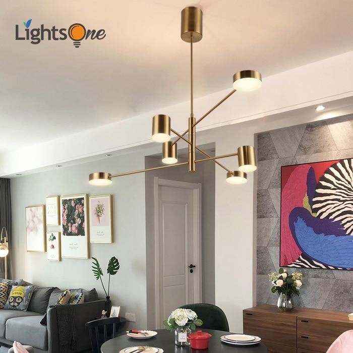 Nordic living room pendant lamp modern minimalist fashion personality rotating style bedroom dining room pendant lights