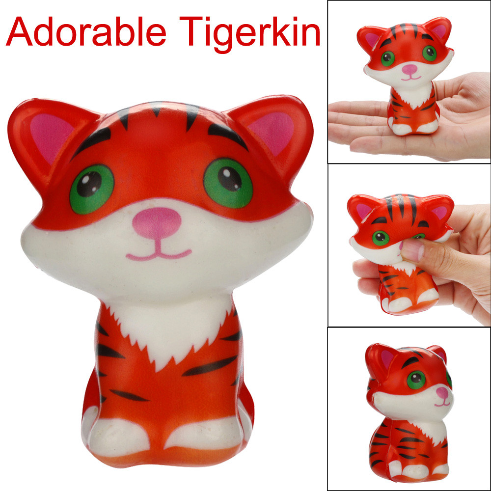 HOT! Selling  Squishies Kawaii Tigerkin Super Slow Rising Cream Scented Stress Relief Toys  Drop Shipping  De27