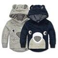 Momscare Младенцев Зимние Пальто Медведь Лицо Кораллов Младенческой Пальто Младенческой clothing Зимняя Куртка Девушки Ребенок