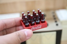 Simulation coke model toys doll food toys for kids gift DIY accessories doll house Decoration