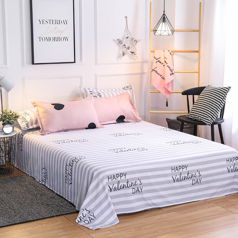 Image 5 - Pink Heart Bedding Sets Quilt Bed Pillow Duvet Cover Set Single/Double/Queen/King Size 3/4pcs Cartoon Home Textile Pillowcases-in Duvet Cover from Home & Garden