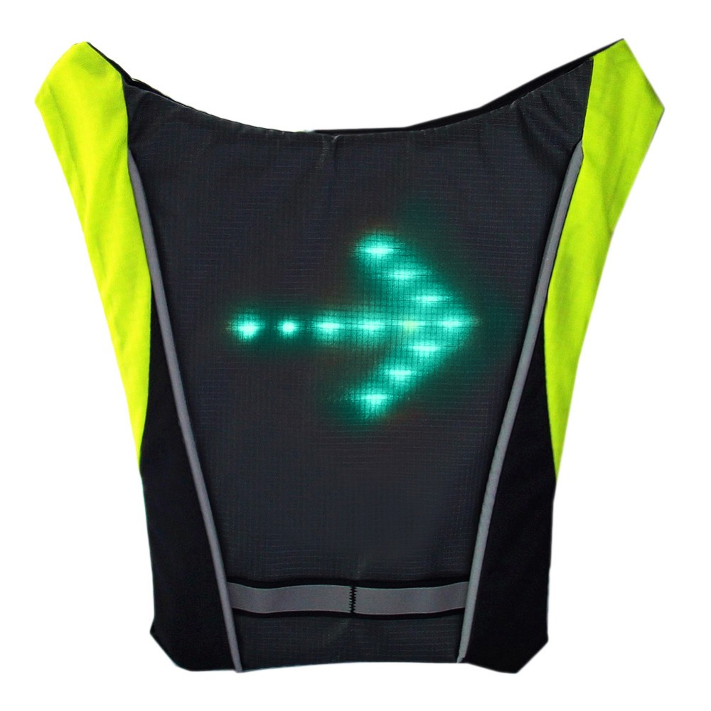 Unisex Multipurpose Cycle Visibility Reflection Led Flash Bike Vest Adjustable Running Cycling Reflective Safety Vest Camping & Hiking Hiking Vests