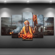 Hindu pundits Artistic Printed Drawing on Canvas Spray Oil Painting Decoration Printed Home Decor Framed wall art picture AE0998