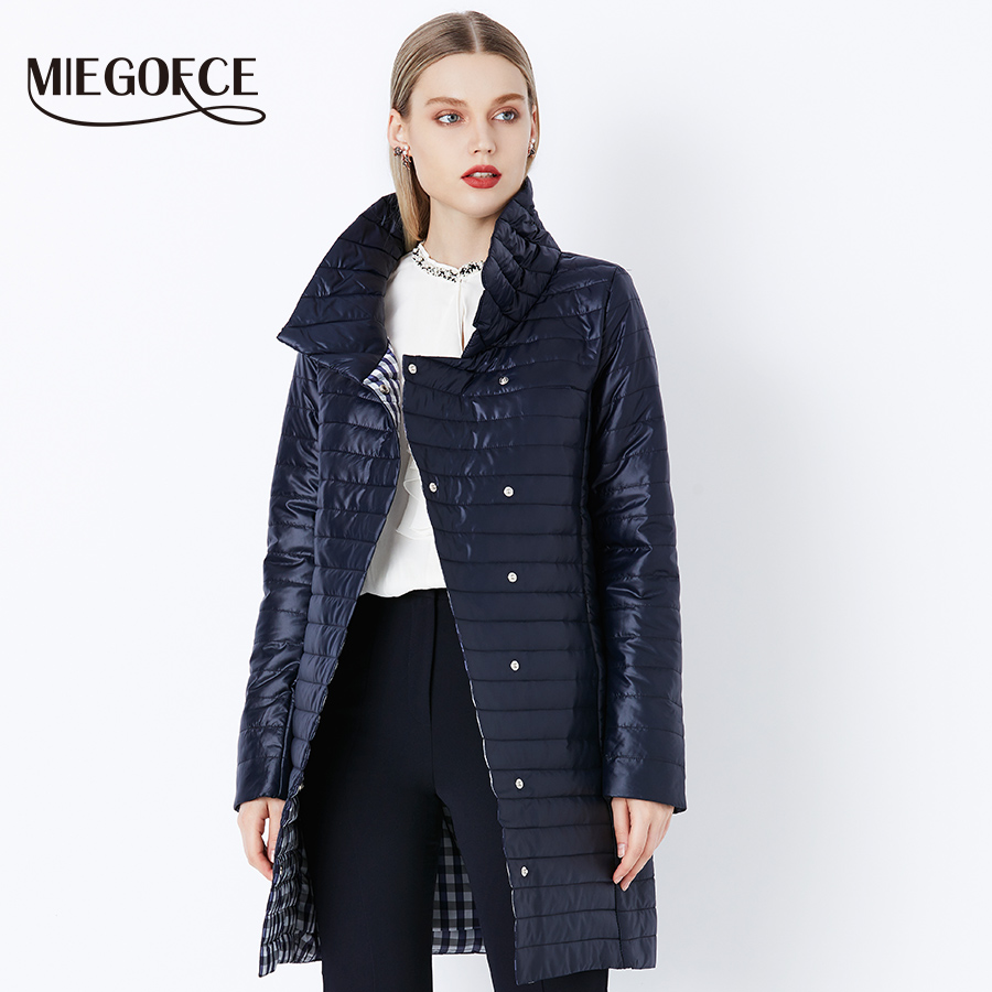 Nouveau Chaud Miegofce D hiver Green Blue Haute Printemps Qualité 705  Outwear 2018 Parka Yellow Coton Blue 609 Mince Femmes 804 rembourré Manteaux  ... ec28f62318fc