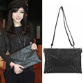 New Women Black Bags Skull Clutch Crossbody Punk Brand Handbags For Girls  BS88