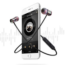 Magnetic Wireless  Bluetooth Earphones In ear Headsets Sport Running Stereo Bass Music Earphone With Microphone For Phone MP3 цена
