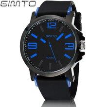 GIMTO Marca Deporte de Los Hombres Reloj de Cuarzo de Silicona Negro Masculino Militar Impermeable de Los Relojes Reloj Casual Reloj Relogio masculino