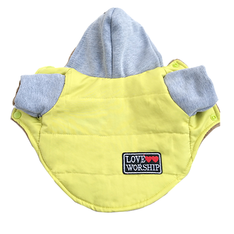 Pet Cat Dog Cotton Padded Jacket Coat Winter Warm Fleece Dog Puppy Snow Suit Hoodie Chihuahua Small Dog Vest Clothes For Pet