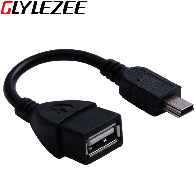 Glylezee Mini USB 2.0 OTG Adapter Conventor Cable Line for Cellphone Tablet Free Shipping princess hat skullies new winter warm hat wool leather hat rabbit hair hat fashion cap fpc018