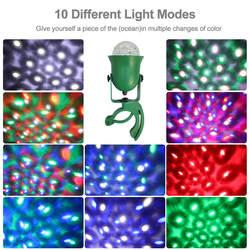 10 Вт Водонепроницаемый IP65 RGB Firefly стадии эффект света 10 режимов Открытый проектор светодиодный Светлячок на дерево лампа статического