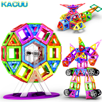 KACUU Big Size Magnetic Blocks Magnets Designer Constructior 3D Model Magnetic Blocks Educational Toys For Children Kid Gift