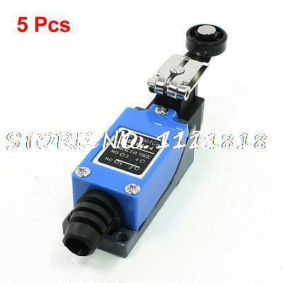 5 Pieces Rotary Roller Lever Arm Limit Switch NO NC ME-8104 for CNC Mill Plasma tz 8104 electric rotary lever enclosed limit switch