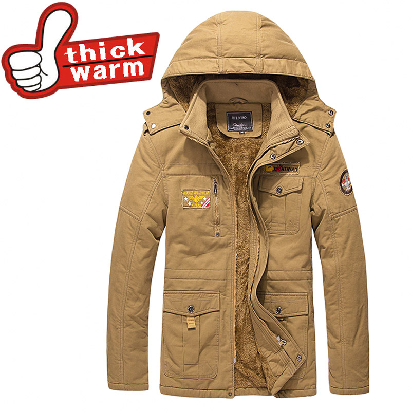 Down Parkas mens windbreaker coat Winter thick warm casual Padded  jacket men style Solid brand clothing Large size 4XL