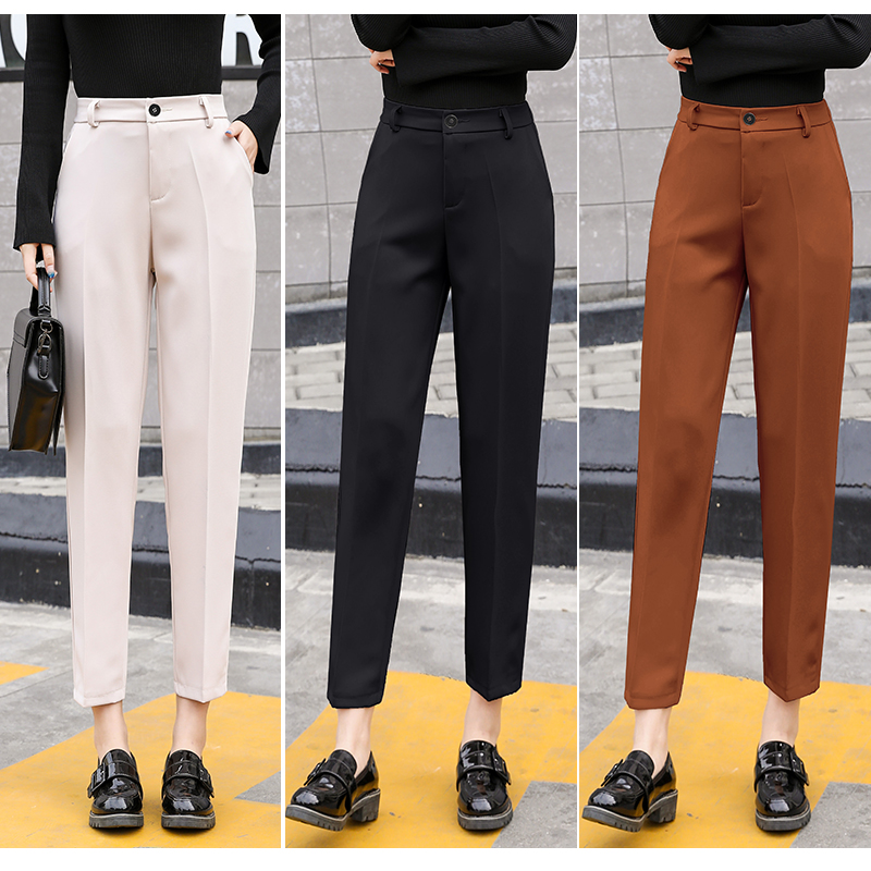 Spring Autumn Newest Pants Plus Size XS-3XL Trousers Women Pants Office Lady Pencil Pant High Waist Slim Work Ankle-Length Pants