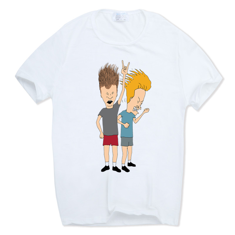 Men Women Print Fashion Beavis And Butthead   T  -  shirt   O-Neck Short sleeve Summer Beavis & Butthead   T     Shirt   HCP837