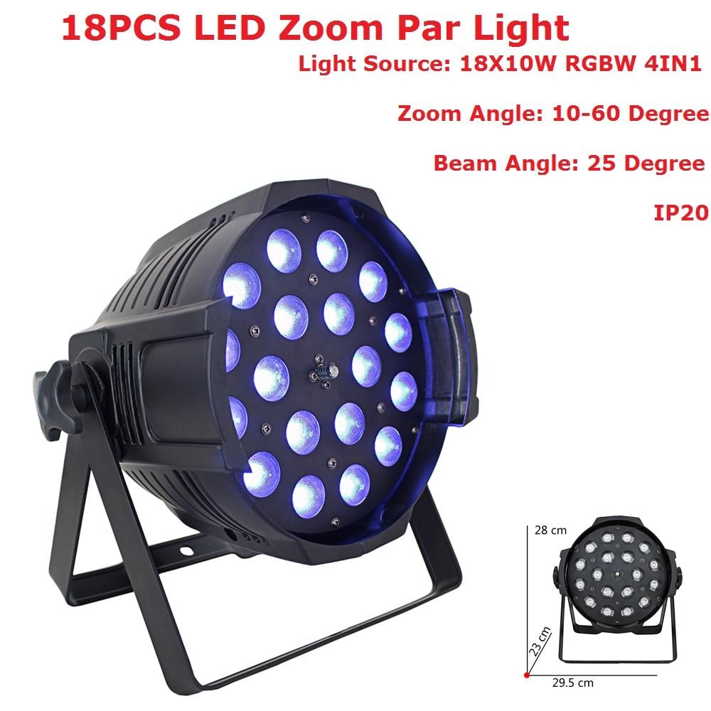 2018 Newest Par Lights 18X10W 4IN1 RGBW LED Zoom Par Lights Disco Lamp Stage Lights Luces Discoteca Laser Beam Luz de Projector a 8x 2016 best selling products newest bee eye 4 in 1 stage rgbw led light par with zoom beam effect