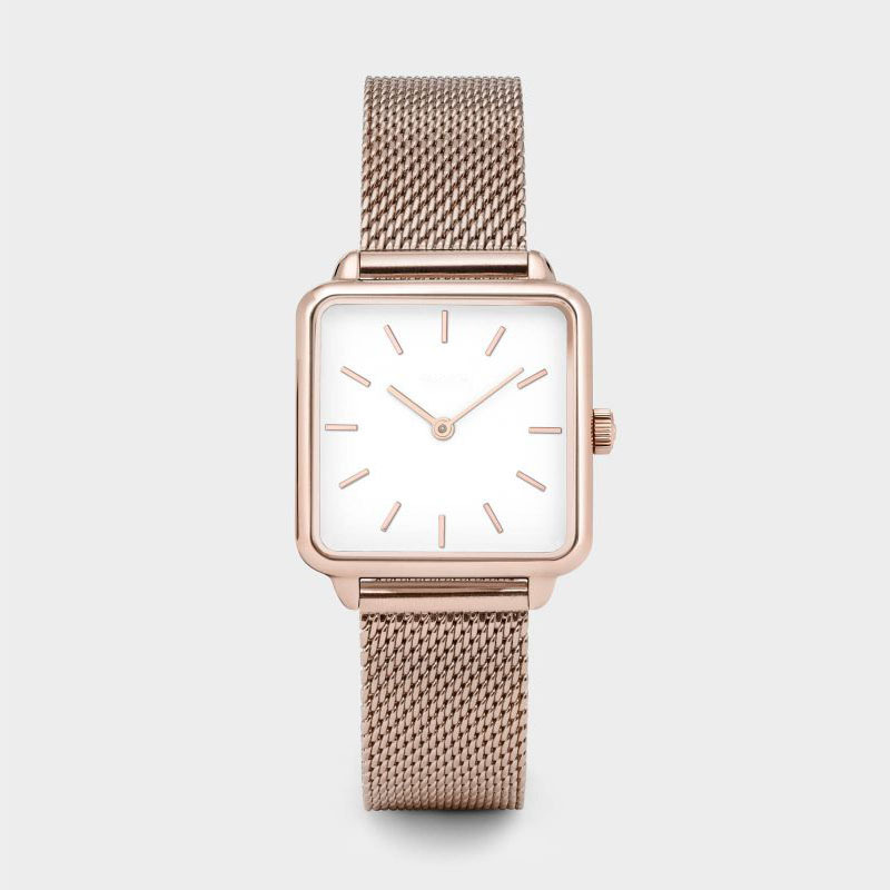 Luxury Brand Women Watch Fashion Feminine Female Dress Watch Square Rose Gold Bracelet Watch Reloj Mujer Dropshipping Clock