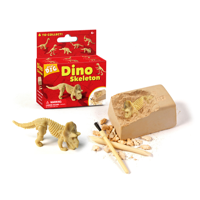 US $3 89 35% OFF|Children History Science Educational Small Dinosaur Fossil  Excavation Toy Sets Toys for Kids Children High Quality Type Random on