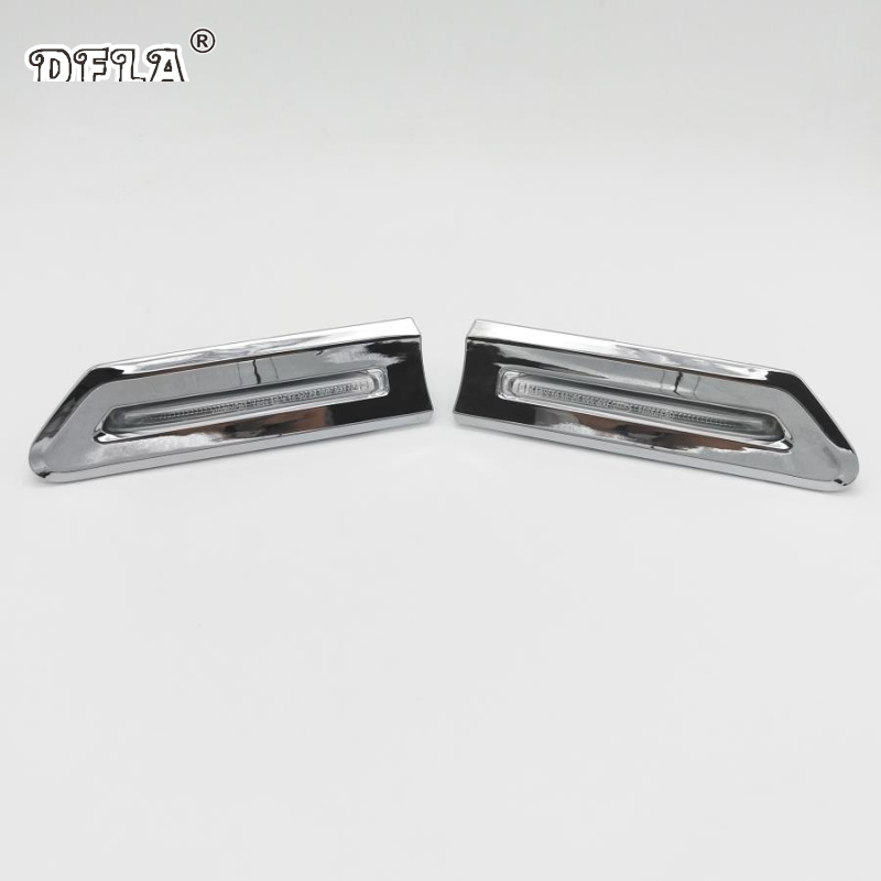 LEFT BMW 7 Series F01 F02 OEM Genuine Chrome Trim Side Marker Light 2009