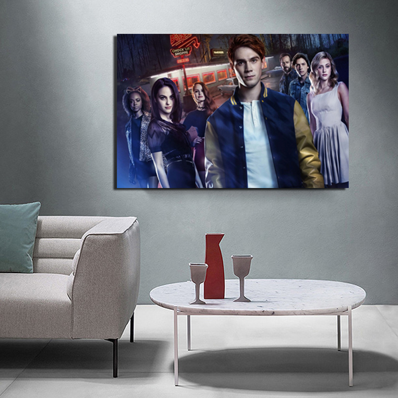 Characters From The Riverdale Series Canvas Painting Poster Prints Marble Wall Art Painting Decorative Picture Modern Home Decor in Painting Calligraphy from Home Garden