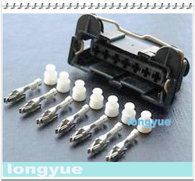 Longyue 10 Kit AMP / TYCO 7 Way AFM Medidor De Fluxo De Ar Conector MAF JPT Junior Power Connector Timer Com Terminais Bota de Borracha