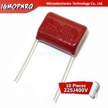 10 Uds 400V225J 2,2 UF Pitch 20M 225J400V 225 400V 2200PF igmopnrq CBB condensador de película de polipropileno nuevo