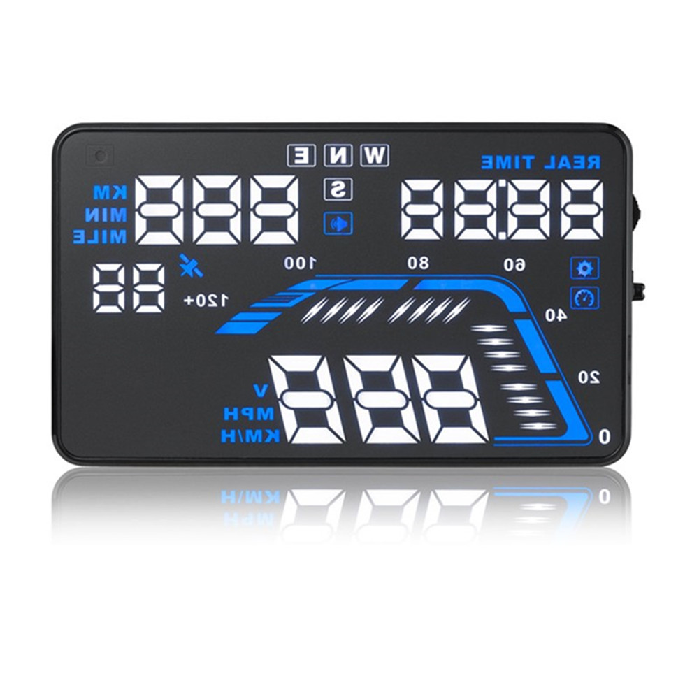 5.5 Inch Auto GPS HUD Car Head up Display Speed Projector on the Windshield Digital Speedometer Display on-Board цены