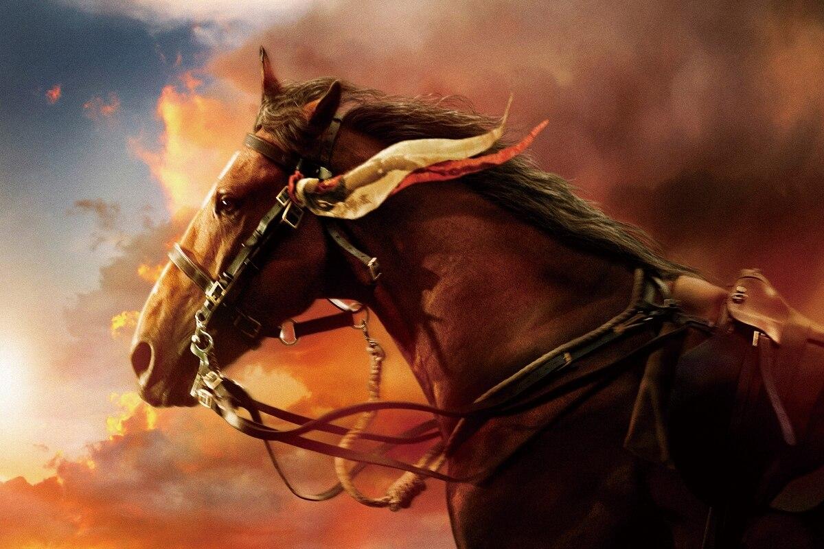cool western Horse artistic Animal sunset background living room home modern decor wood frame poster KB250