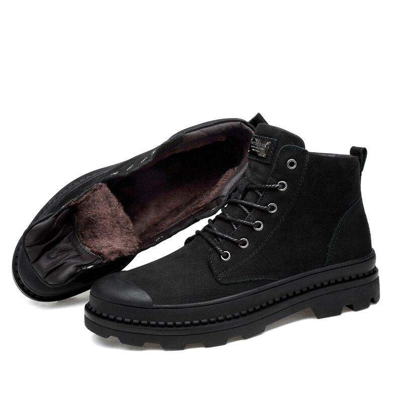 No Inverno Sapatos Neve Casual Homens Dos Quente Couro Fur Genuíno Sapato Clax Bota Outono Pele Alto Masculino fur Da Cano De Botas OqWafqHT8