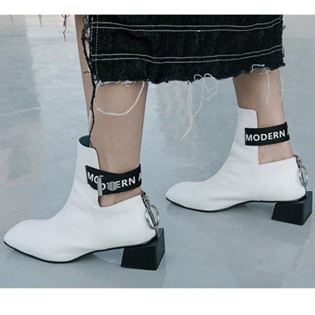2019 Square Toe Women Ankle Boots Runway Chic Heels Back Zipper Autumn Short  Booties Retro Back Zipper Chaussures Femmes Tide ef62d65c6a2e