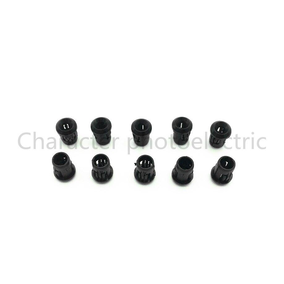 50 100 500 1000 Pcs/Lot  3mm LED Light Emitting Diode Holder Lamp Socket Plastic Black Clip Bezel Mount Useful