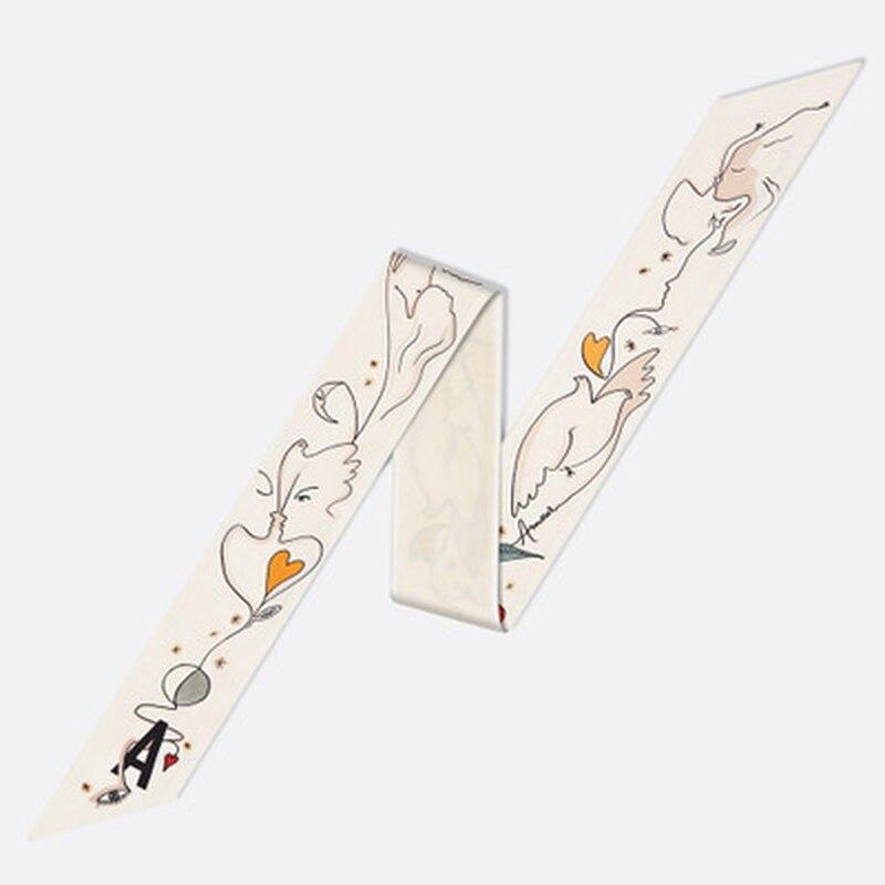 2019 Tarot nuevo bolso de mano trenzado de 26 letras Bufanda envuelto cinta Bufanda Mujer gasa Hijab chal
