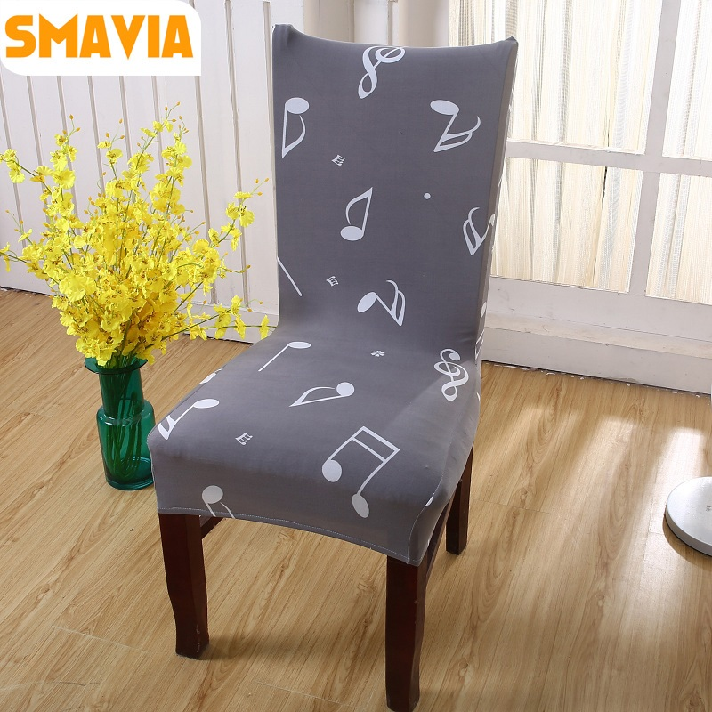 SMAVIA Hot sale Printed Dining Chair Cover 100% Polyester Anti-Dirty Fabric Decor Home restaurant Chair Cover easy washale 2pcs ...