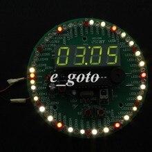 Электронный индикатор времени Дисплей комплект вращения LED часы DIY Kit Дистанционное управление Multi-Функция часы костюм
