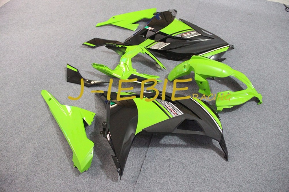 Green black green Injection Fairing Body Work Frame Kit for Kawasaki NINJA 300R EX300 EX 300 R 2013 2014 2015 2016