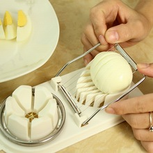 Multifunctional, two-piece, all-purpose egg cutter, kitchen tool, separator, creative, cutter.