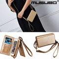 Musubo moda meninas flip de couro de luxo case para iphone 7 plus capa holster para iphone 6 s plus 6 plus saco do telefone carteira casos
