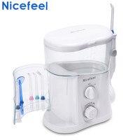 Nicefeel 1000ML Electric Oral Irrigator Water Dental Flosser Care Dental Flosser Water Toothbrush Dental SPA with 7pcs Tips